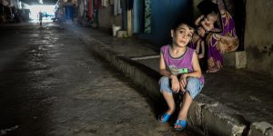 Refugees from the Syrian crisis living in an abandoned factory in Lebanon. Image: Anthony Gale via Flickr