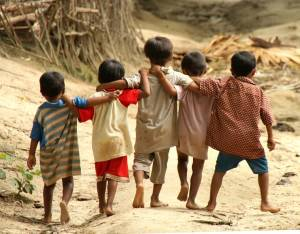 Cute Kids in a small remote village in Myanmar. Photo by Ed Sylvester