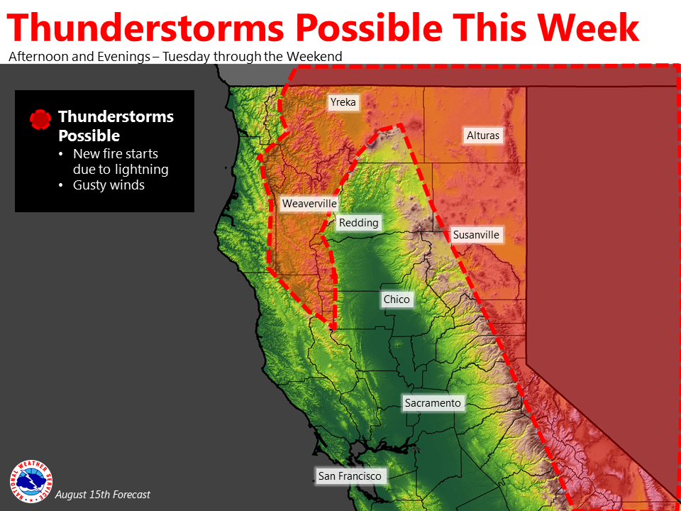 possible thunderstorms elevate fire potential even more yubanet