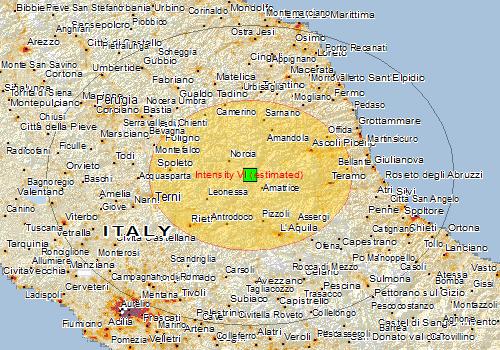 Magnitude Earthquake Southeast Of Norcia Italy YubaNet - Italy earthquake map