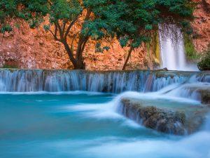 Havasu Creek below Mooney Falls by Charlie Willard