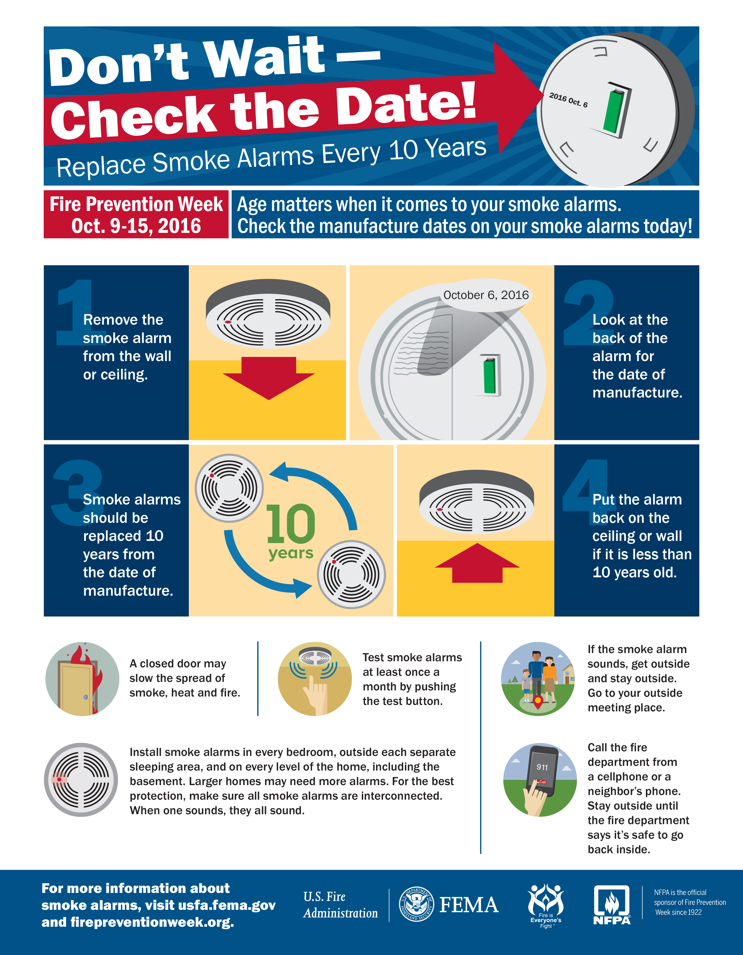 Make time to check your smoke alarm urges fire service