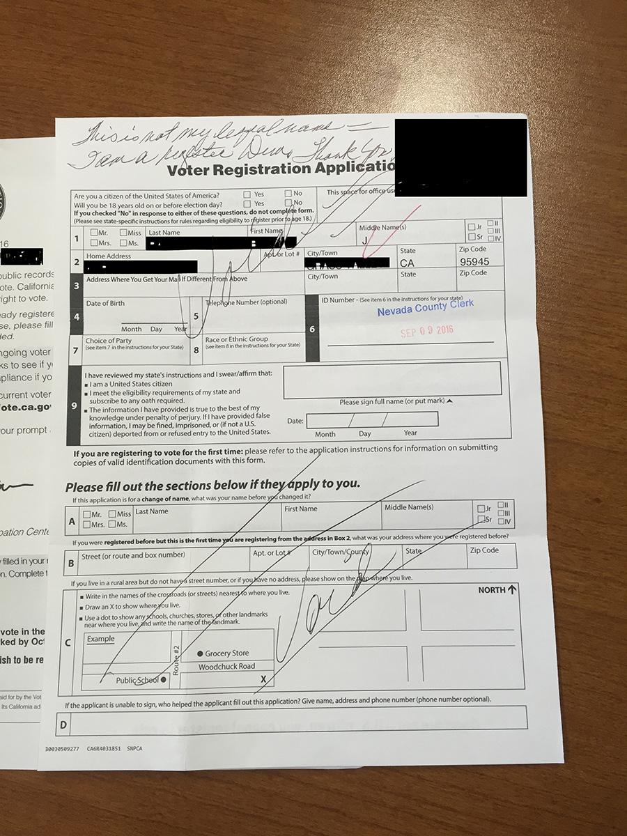 Bad Data Voter Participation Center Registration Letters Sent To