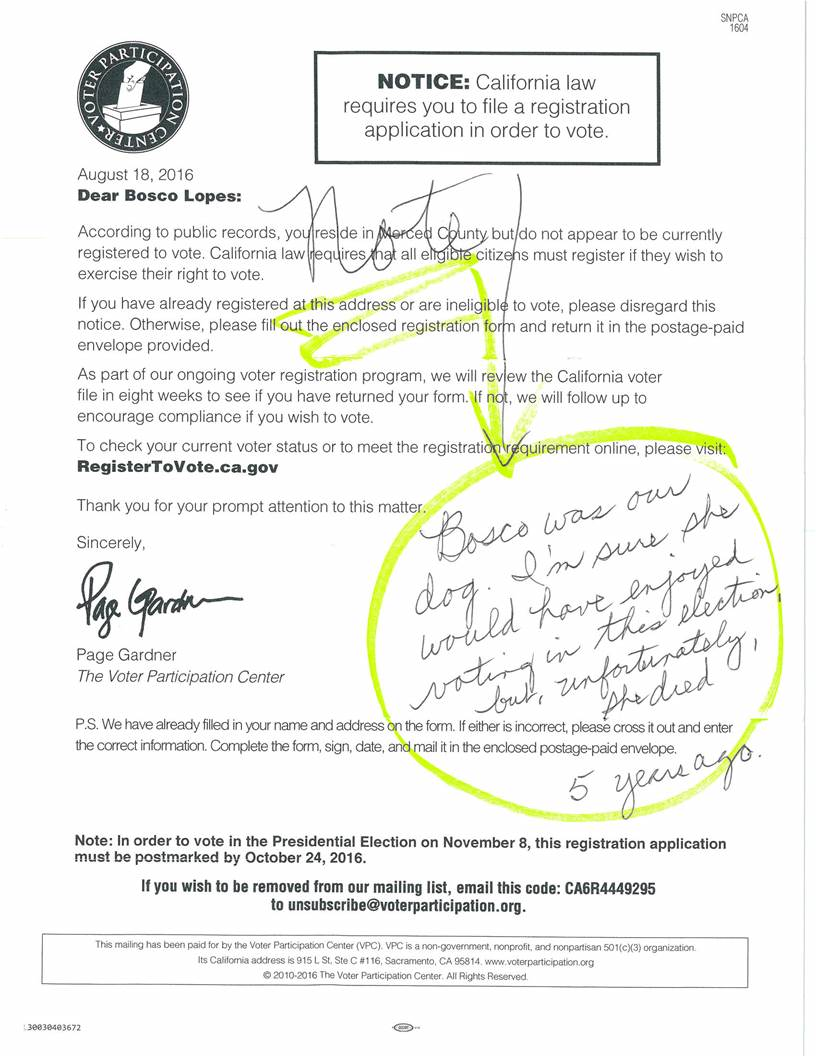 Bad data: Voter Participation Center registration letters sent to ...