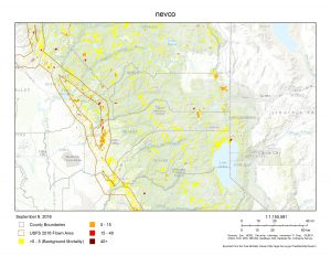 Image courtesy CAL FIRE Tree Mortality Viewer