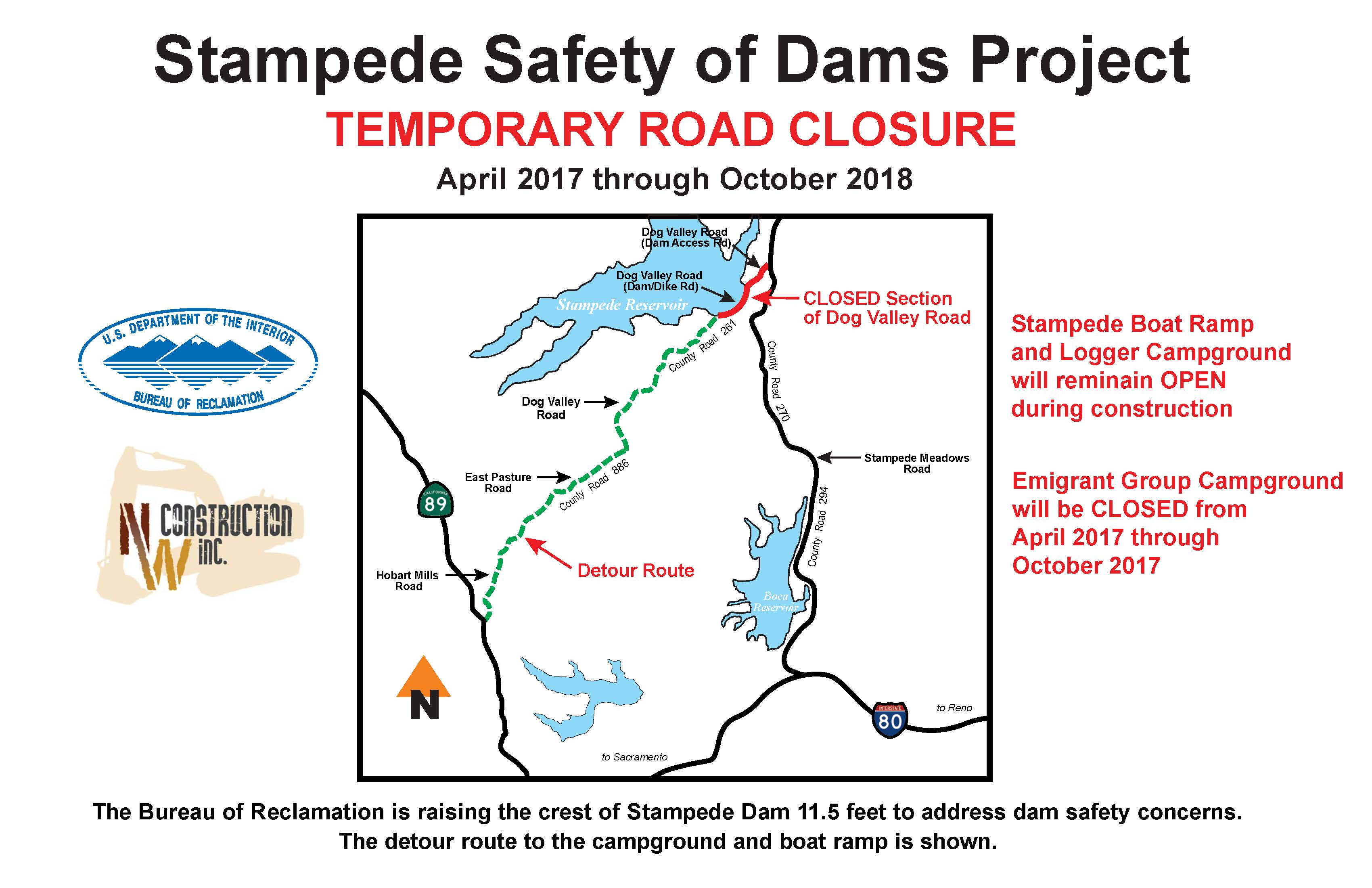 Road work creates delays to recreation sites on Stampede Reservoir