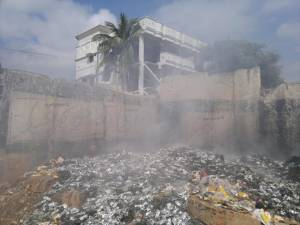 A typical roadside garbage fire in urban India. A new study reveals such fires to be very unhealthy for anybody nearby. Photo: Mike Bergin, Duke University