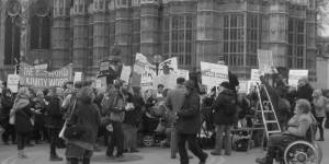 Anti-fracking protests in London last year. Image: David Holt via Flickr