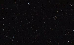 The image was taken by the NASA/ESA Hubble Space Telescope and covers a portion of the southern field of GOODS. This is a large galaxy census, a deep-sky study by several observatories to trace the formation and evolution of galaxies. Credit: NASA, ESA/Hubble