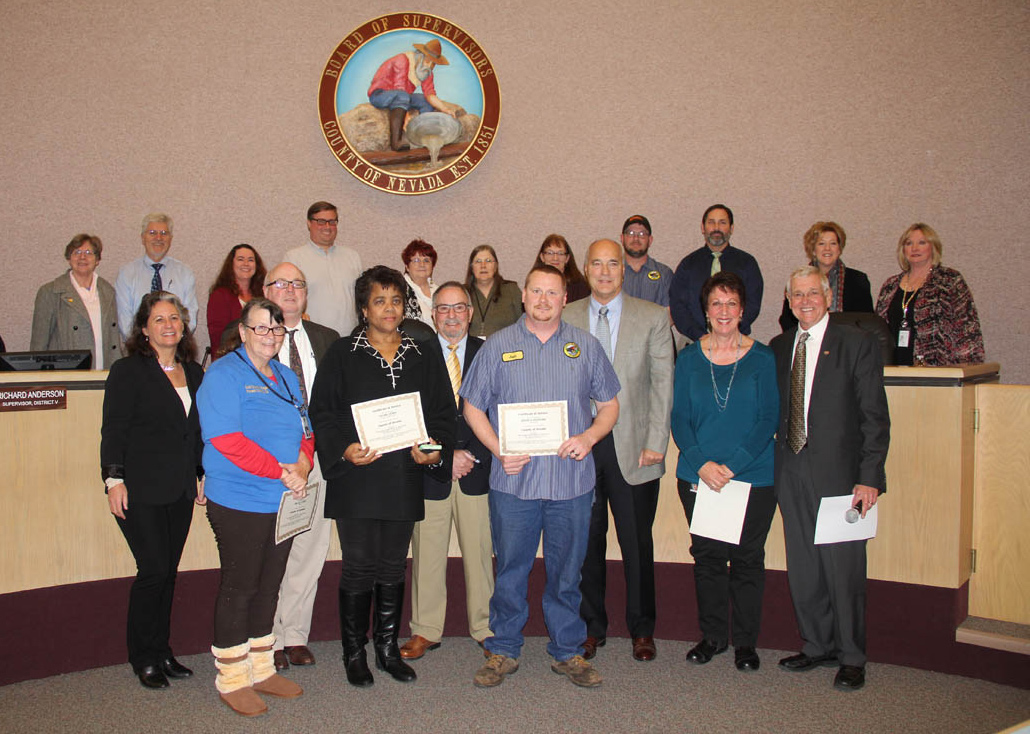 Nevada County Recognizes Employees Yubanet