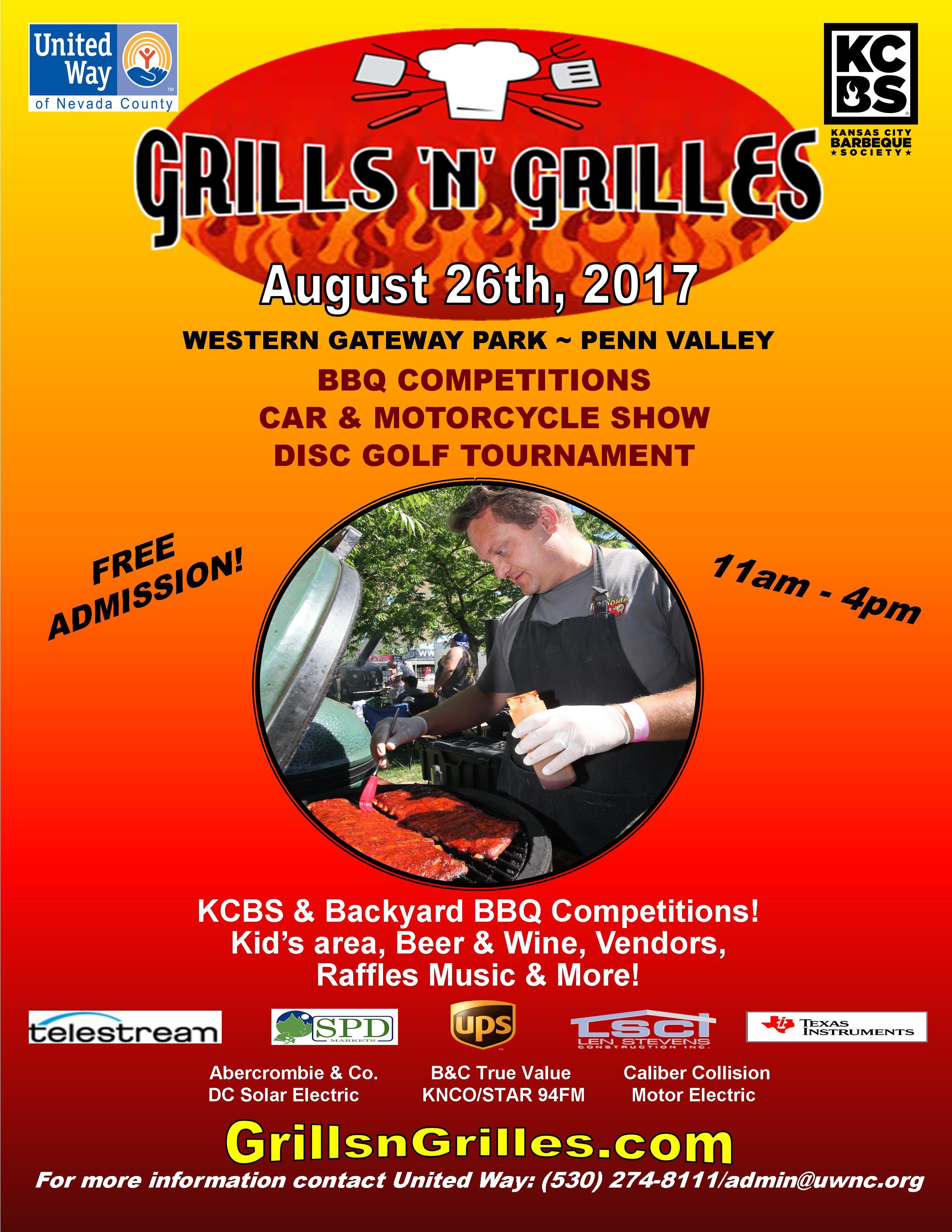 united way of nevada county grills u0027n u0027 grilles backyard bbq