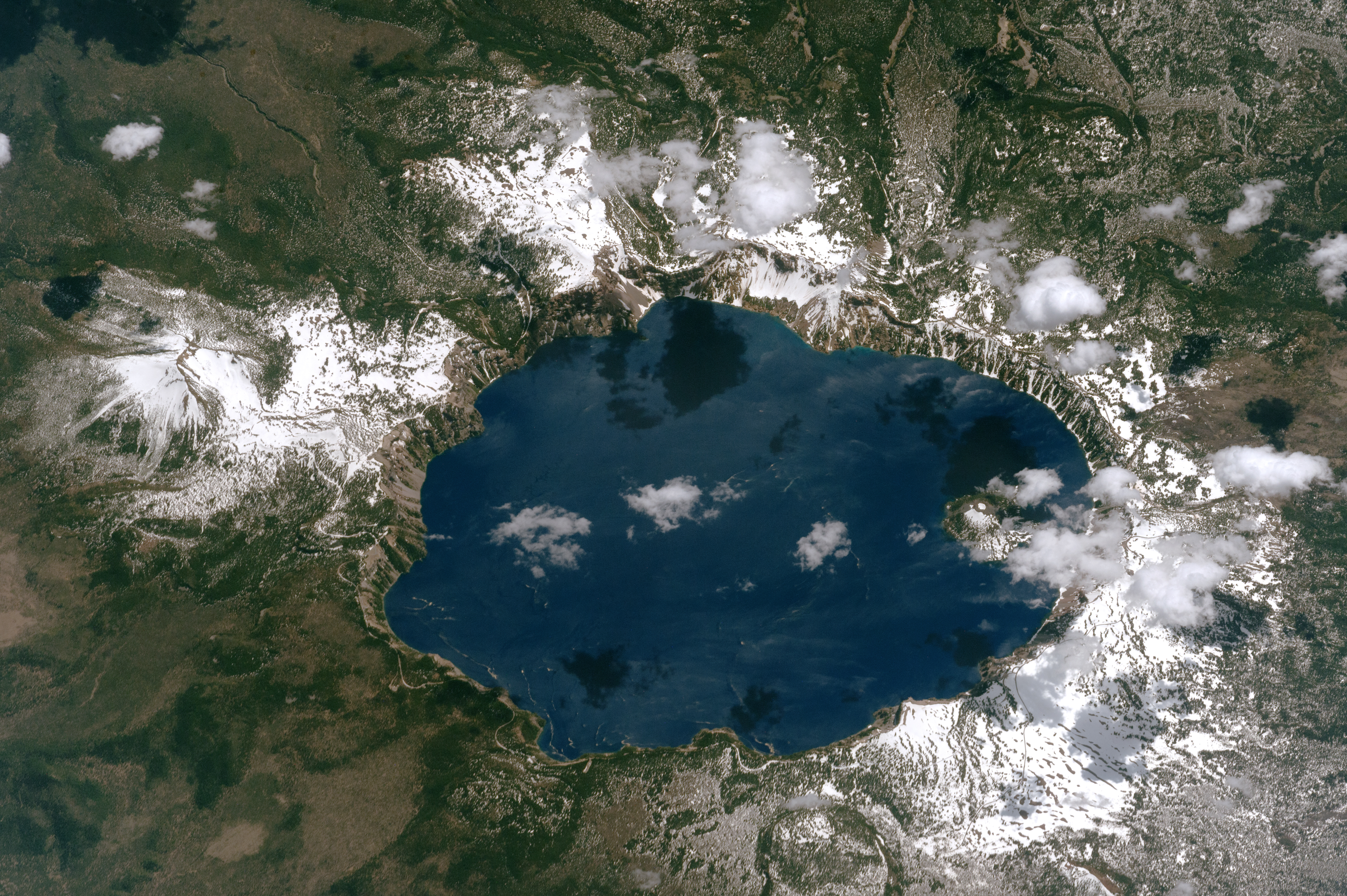 NASA Photo Of Crater Lake The Deepest Lake In The US YubaNet - Us map crater lake