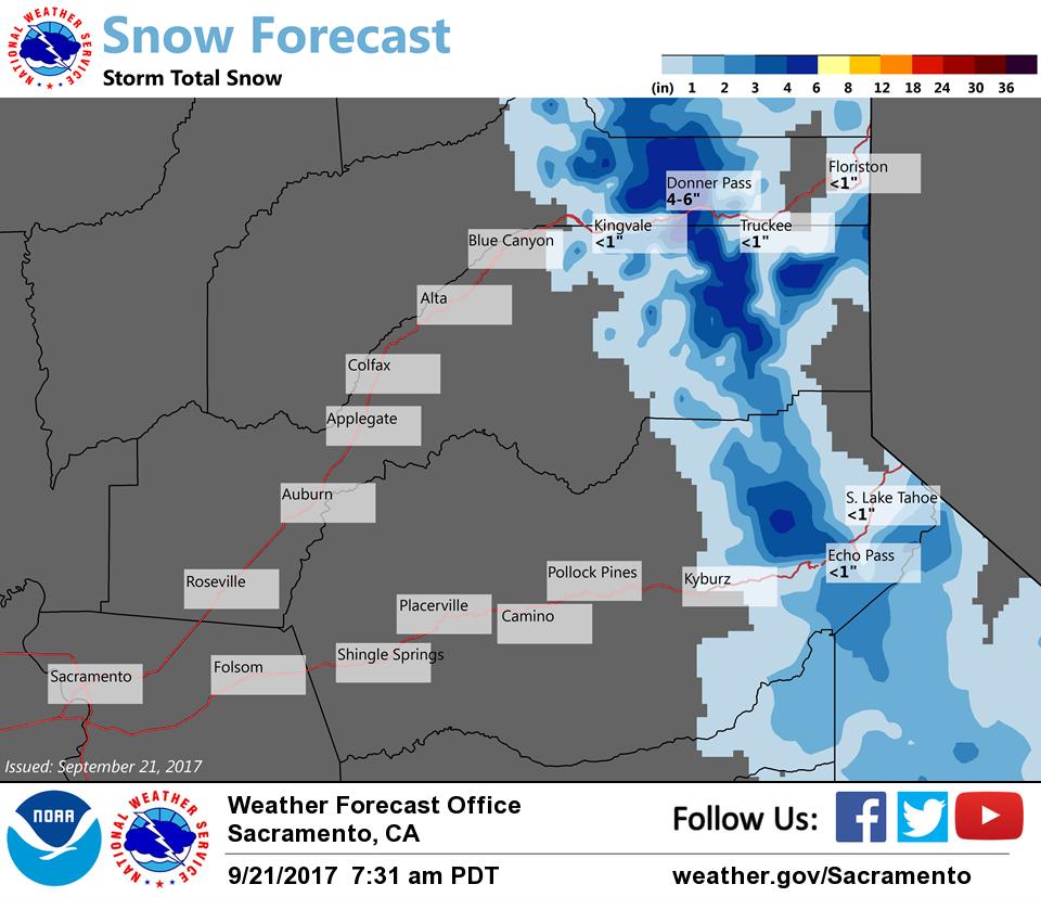 First snow of 2017-18 season falls in mountains surrounding Lake Tahoe