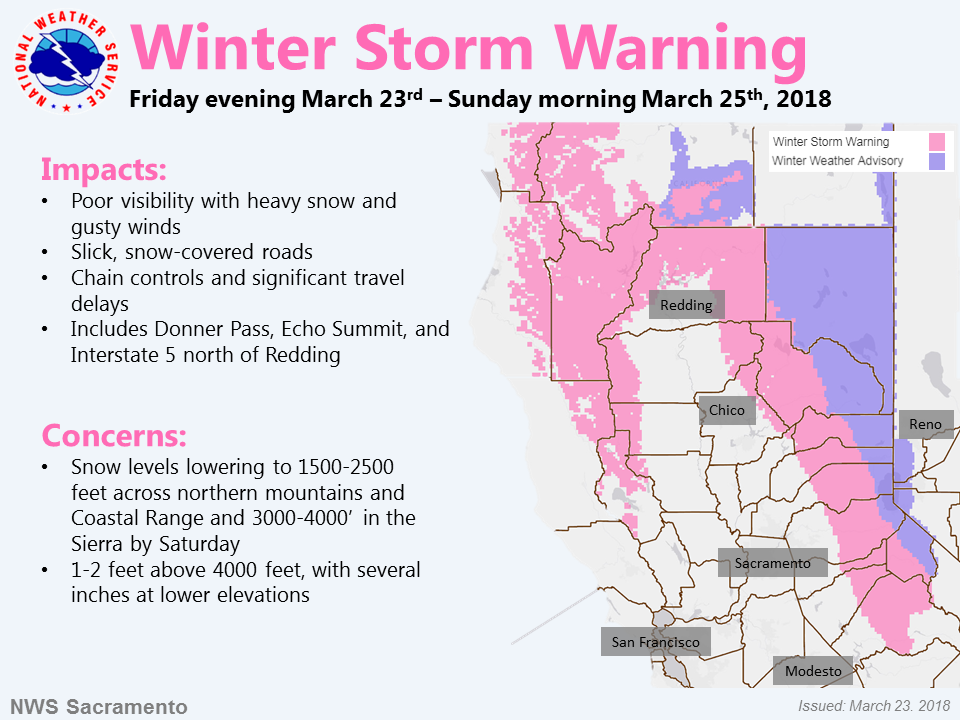 Winter Storm Warning: Two Rounds Of Rain And Heavy Mountain Snow Through Sunday
