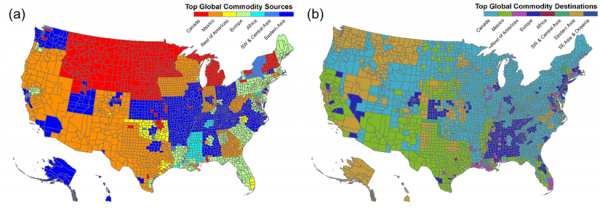 the u s has a large diversified and regional economy top global commodity trading partners have local and regional patterns