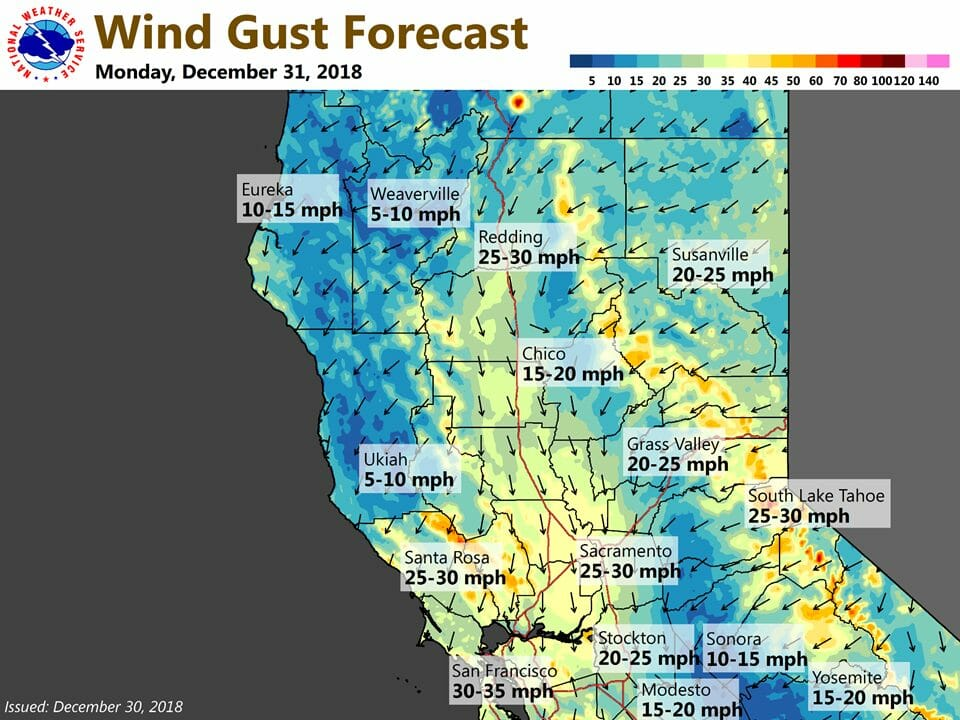 windy overnight and a dry start to 2019 yubanet