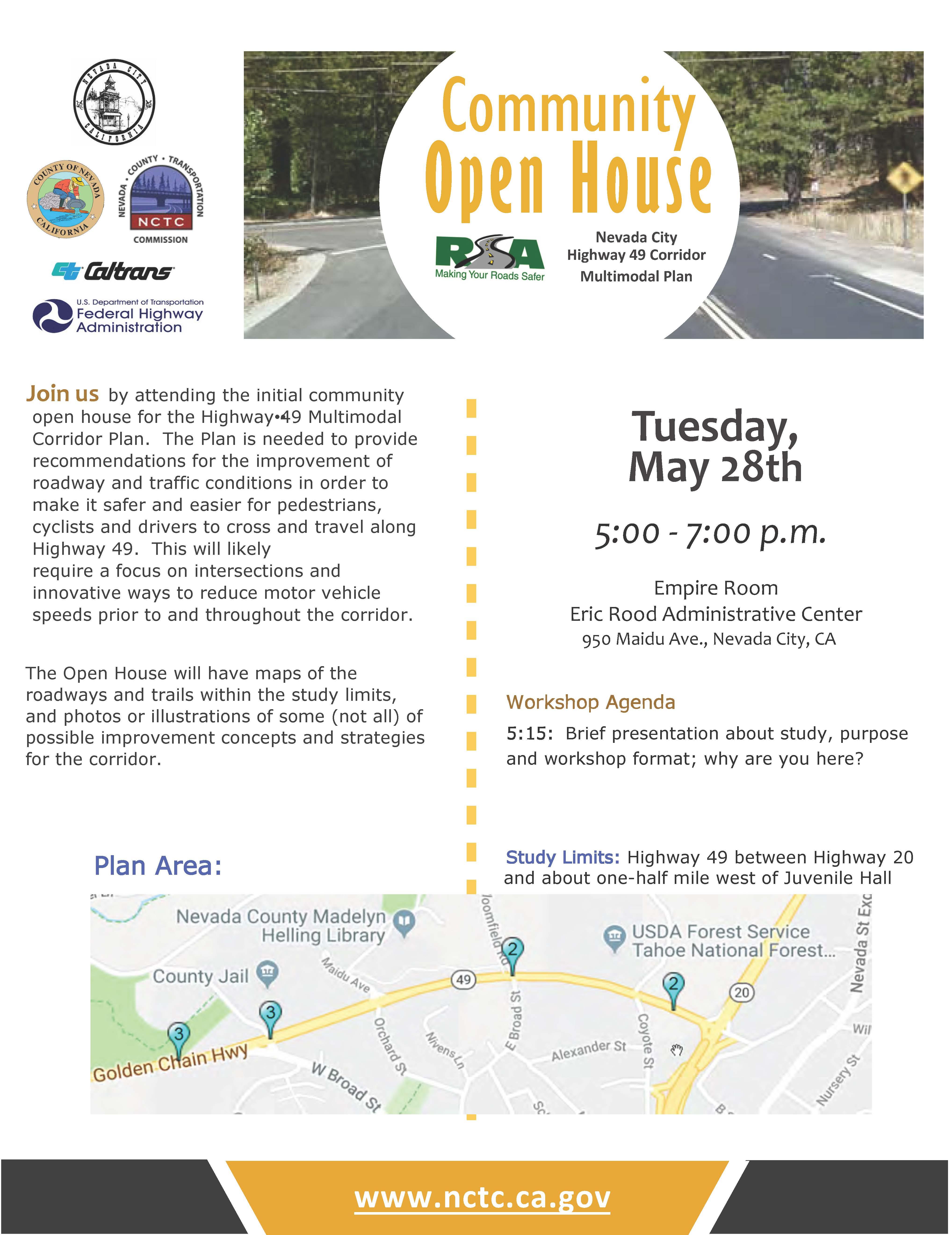 NCTC Open House presenting the SR 49 Nevada City Multimodal Corridor