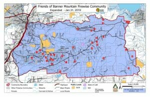 Banner Mountan FireWise community map