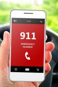 911 mobile call