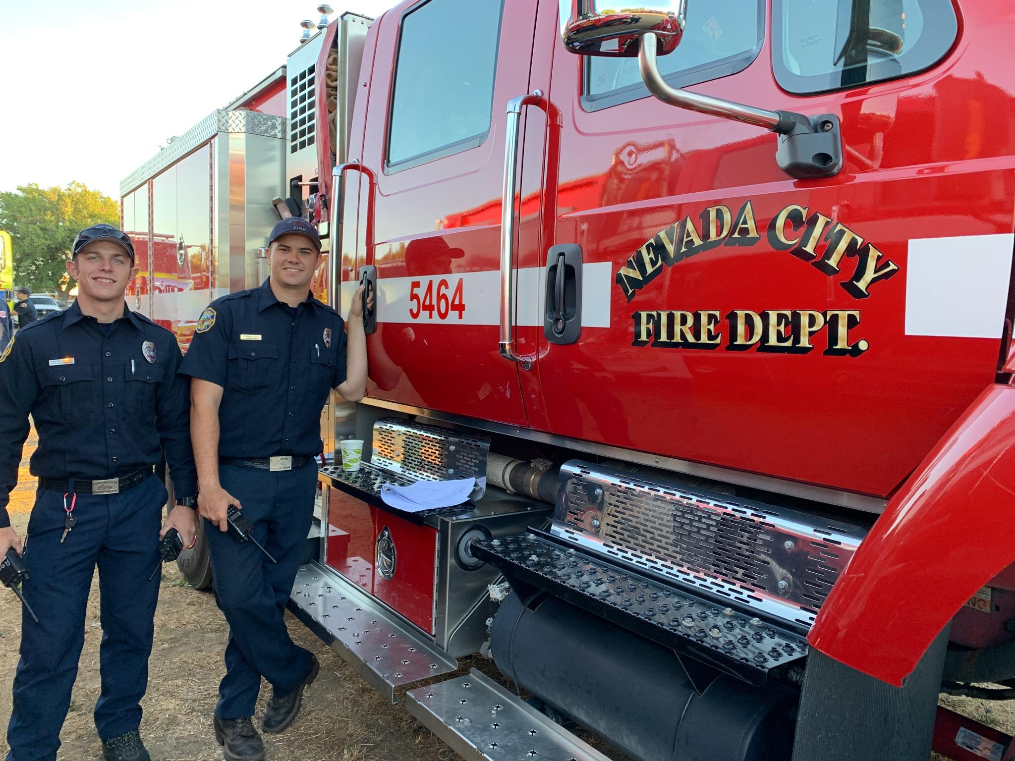 nevada county strike team en route to the red bank fire