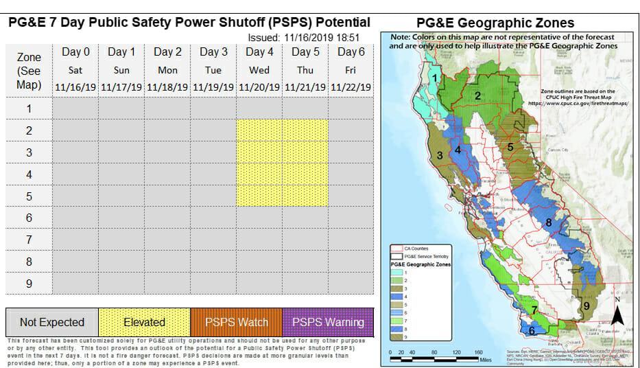 PSPS #7 – November 20, 2019   YubaNet Interstate Map Californai Over The Sierras on